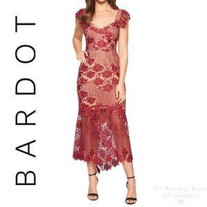 Bardot Lucy Lace Midi Dress